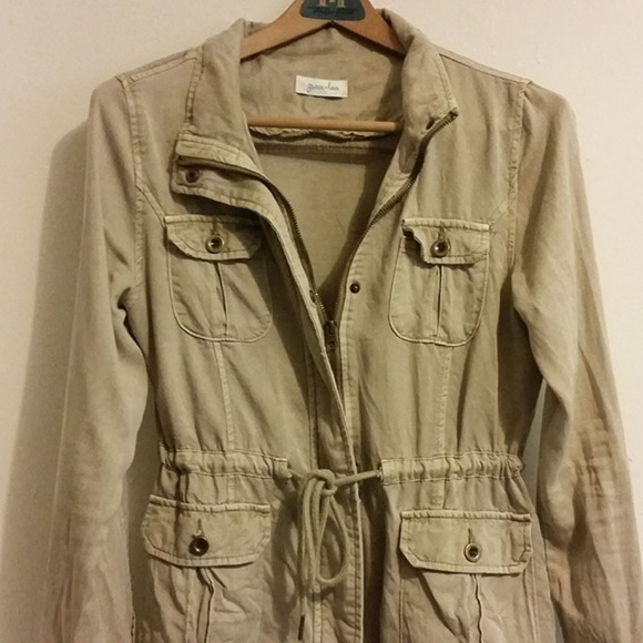 1f9d6711b Grace & Lace Washed Tencel Cargo Jacket sz Small